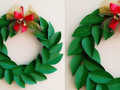 Christmas Wreath.Paper Christmas Wreath.How to make Christmas Wreath.Christmas Decoration Ideas