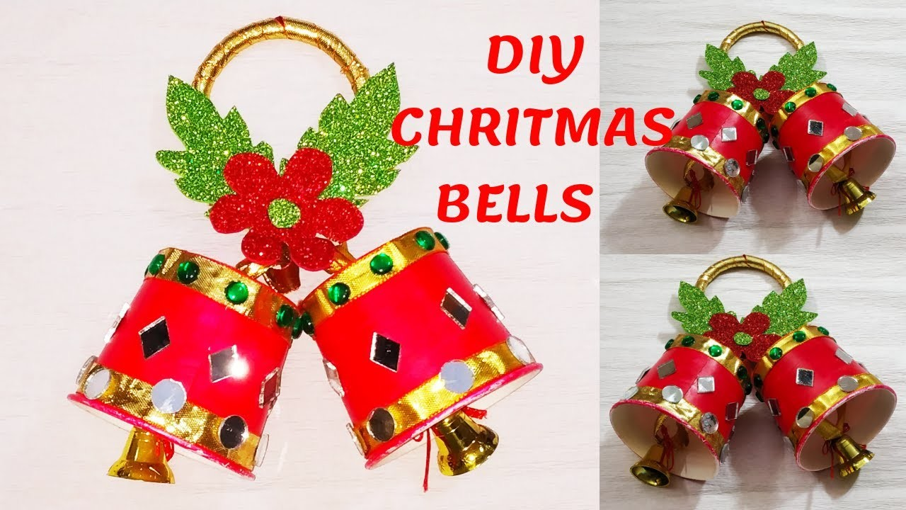 DIY CHRISTMAS JINGLE BELLS || PAPER CUP CHRISTMAS BELLS || HOW TO MAKE BELLS OUT OF PAPER CUPS