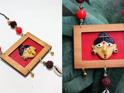 DIY Clay Jewelry Necklace. How to make  Necklace.  Bohemian Necklace