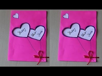 DIY - How to make new year card   Handmade New Year Card Idea   New year greeting card