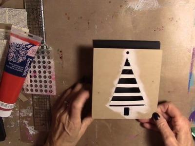 E-Z How to Create a Christmas Tree Stencil