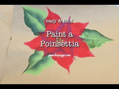Easy How to Paint a Poinsettia one easy stroke at a time