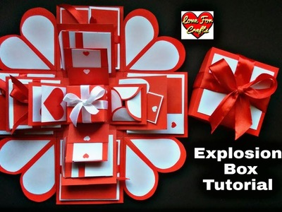 Explosion Box Tutorial | How to Make Explosion Box for Valentine's Day. Anniversary