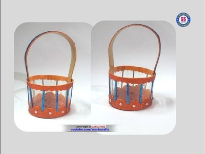 Foam Basket||How to make Plastic bottle gift  basket at home||DIY Kids arts & crafts