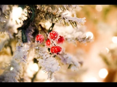 Frosted Christmas Holly Berries. How To Make Picks. DIY. Diana Veronica DIY