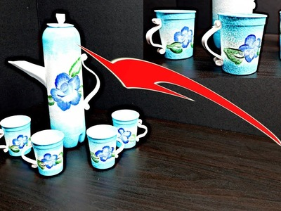 Great Ideas How to Reuse Plastic Bottle and Make Decorative Coffee Set