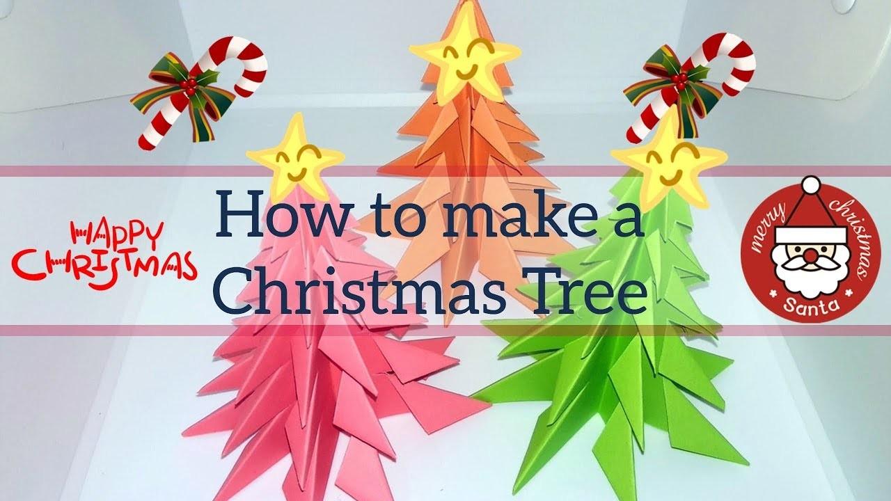 How to make 3D Paper Christmas Tree - Merry Christmas Tree ????????????????????????????????