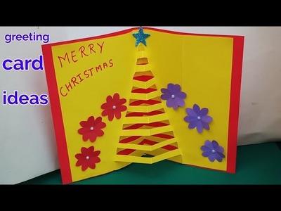 Handmade How To Make A Easy Santa Claus Christmas Greeting Card