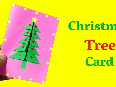 How To Make A Christmas Tree Card | Cool Christmas Card | Christmas Art And Craft