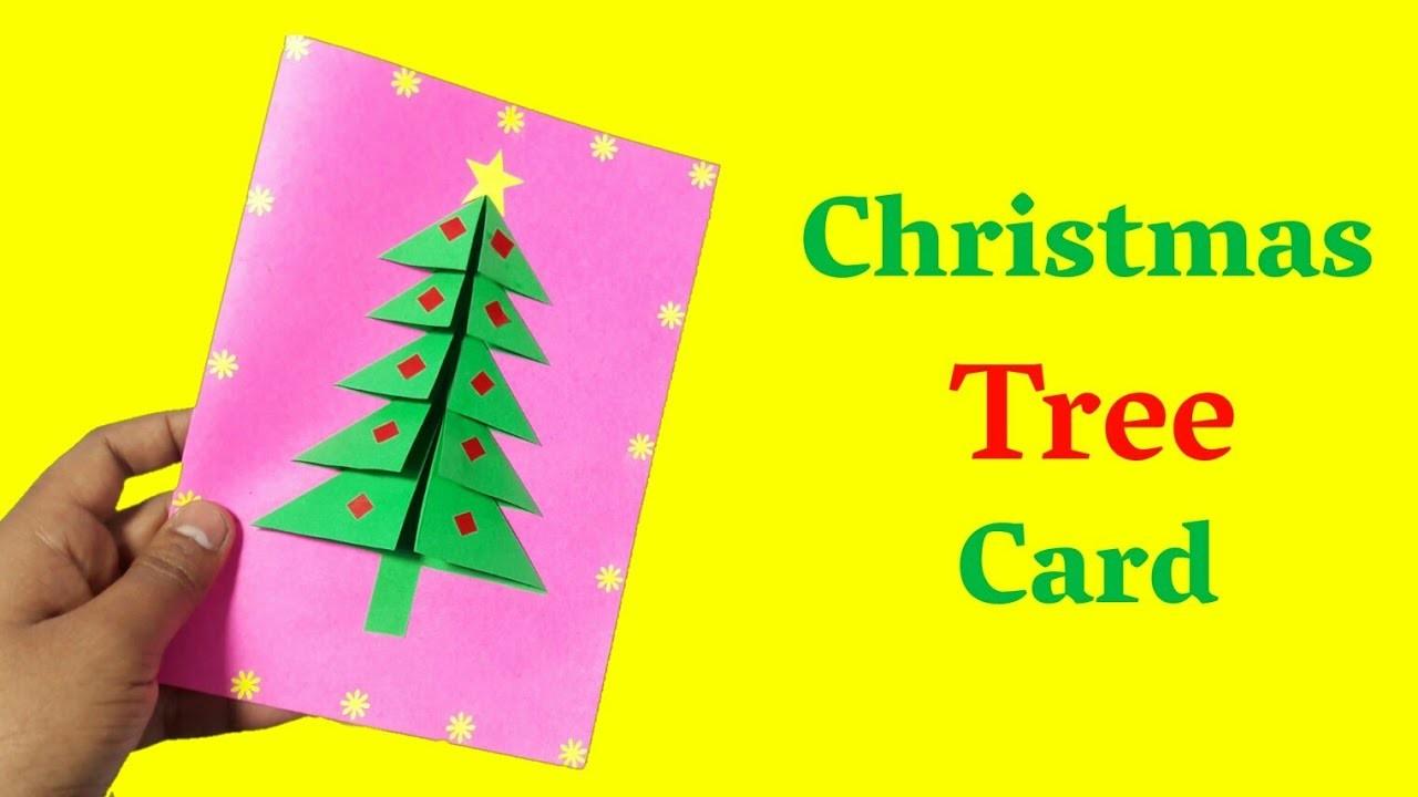 How To Make A Christmas Tree Card | Cool Christmas Card | Christmas Art And Craft
