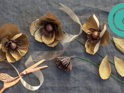 How to Make a Gold Anemone Bloom - Metallic Pack Starter Flower