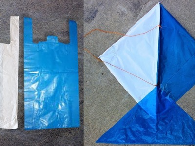 How to make a kite at home with plastic bag step by step | Diy For Begginer