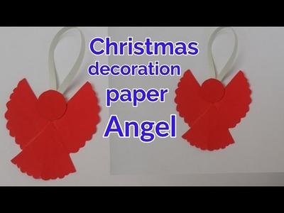 How to make a paper Angel Christmas tree decoration ideas | paper Angel craft ideas Handmade tutoria