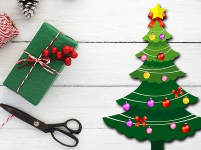 How To Make A Simple and Beautiful Paper Christmas Tree| Crafts For Kids by Hooplakidz How To