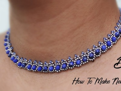 How To Make Beautiful  Necklace At Home || Making Pearl Necklace || Thread Necklace Tutorial
