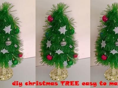 How to make CHIRSTMAS TREE at home ! DIY CHRISTMAS TREE MAKING EASY ! Christmas tree decoration
