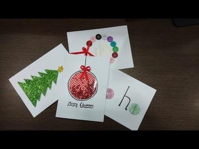 How to make Christmas cards , Easy Christmas card ideas ,Christmas Greetings, Christmas