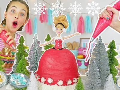 How To Make Christmas Princess Dress Cake | Sleeping Beauty Kids Cooking and Crafts
