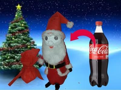 How to make christmas santa claus ||plastic bottle craf idea ||santa claus with plastic bottle