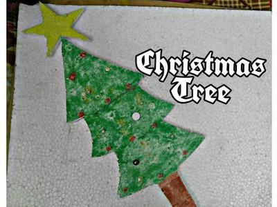 How to make Christmas tree with thermocol | Easy Christmas tree decoration | christmas tree craft