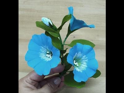 How to make crepe paper Nolana flower
