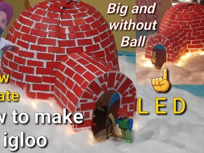 How to make igloo model || igloo making ideas for school || igloo making with cotton and paper