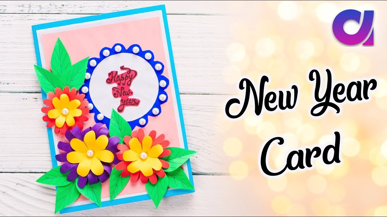 How to make New Year Card | New year greeting card 2019 | Artkala