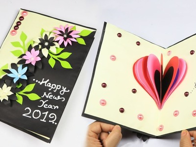 How to make new year card | Handmade New Year Card Idea | Pop up Card for New Year