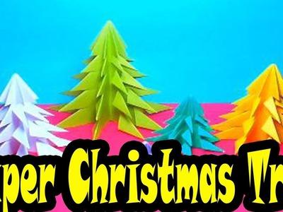 How to make Paper Christmas Tree | Origami Christmas Tree ( No Glue)