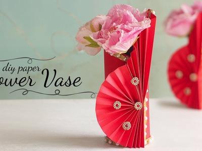 How to Make Paper Flower Vase | DIY Flower Vase | Home Decor Ideas