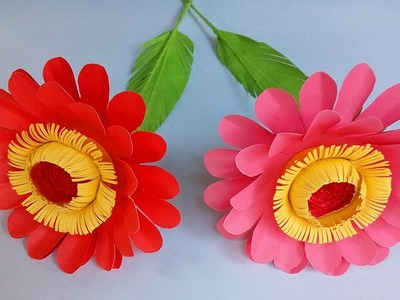How to make paper flowers easy |  DIY Paper Flowers | paper flower making step by step
