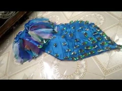How to make peacock dress at home
