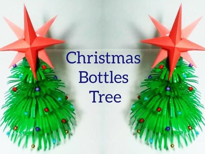 How to make  plastic  bottles Christmas tree || Bottle Crafts & Origami