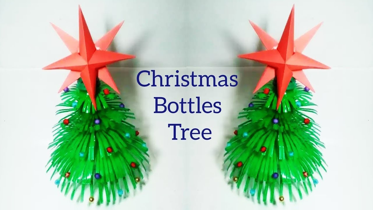 How To Make Plastic Bottles Christmas Tree Bottle Crafts Origami