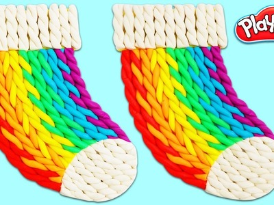 How to Make Play Doh Rainbow Stocking | Fun & Easy DIY Arts and Crafts!