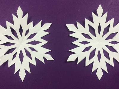 How to Make Snowflake with Paper  Making Paper Snowflakes Step by Step - DIY Paper Flowers