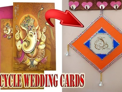 Crafts How To Reuse Old Wedding Cards At Home Wall Hanging Making