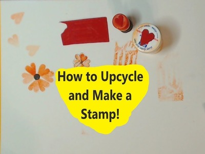 How to Upcycle and Make Stamps for your Art #mixedmedia #kellydonovan #stamping
