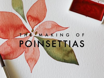 How To Watercolor x Poinsettias! | Simple Step-by-Step