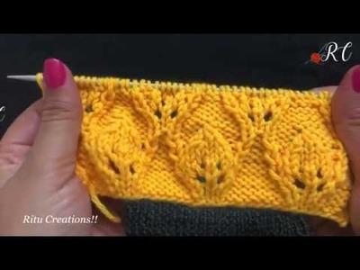 Knitting Design No #184     Knitting Pattern    Hindi Knitting video by Ritu Nagpal   