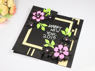 New year greeting card – How to Make Customized Greeting Card for New Year – New Year Card 2019