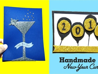 New year handmade card - happy new year card | how to make new year card | tutorial- Tuber Tip