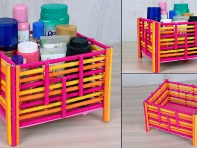 Newspaper Multi Storage Box | How to make DIY Multipurpose Organizer | Best out of waste Craft Idea