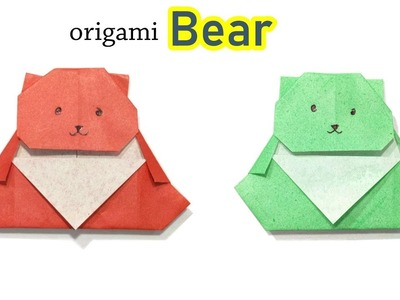 Origami Bear - How to Make Cute Paper Bear - Origami Animal Crafts - Paper Animals
