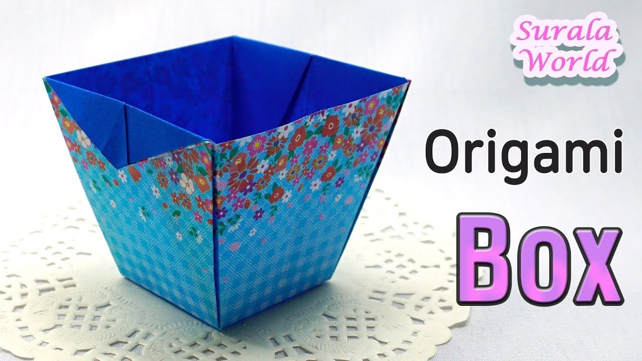 Origami -  Box, Container, Bowl (Tutorial, How to)