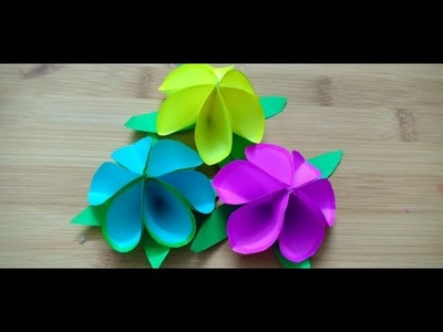 Paper Flower, how to make flower from paper , paper fun activity for kids