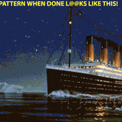 Titanic Iceberg Cross Stitch Pattern***L@@K***X***(INSTANT DOWNLOAD)***