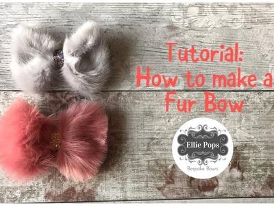 Tutorial: How to make a fake fur bow