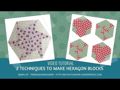 2 techniques to make hexagons video tutorial