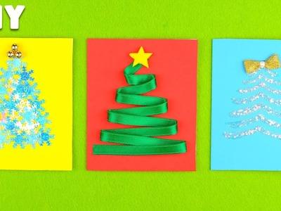 3 DIY Christmas Cards Ideas | How to Make Christmas Greeting Cards